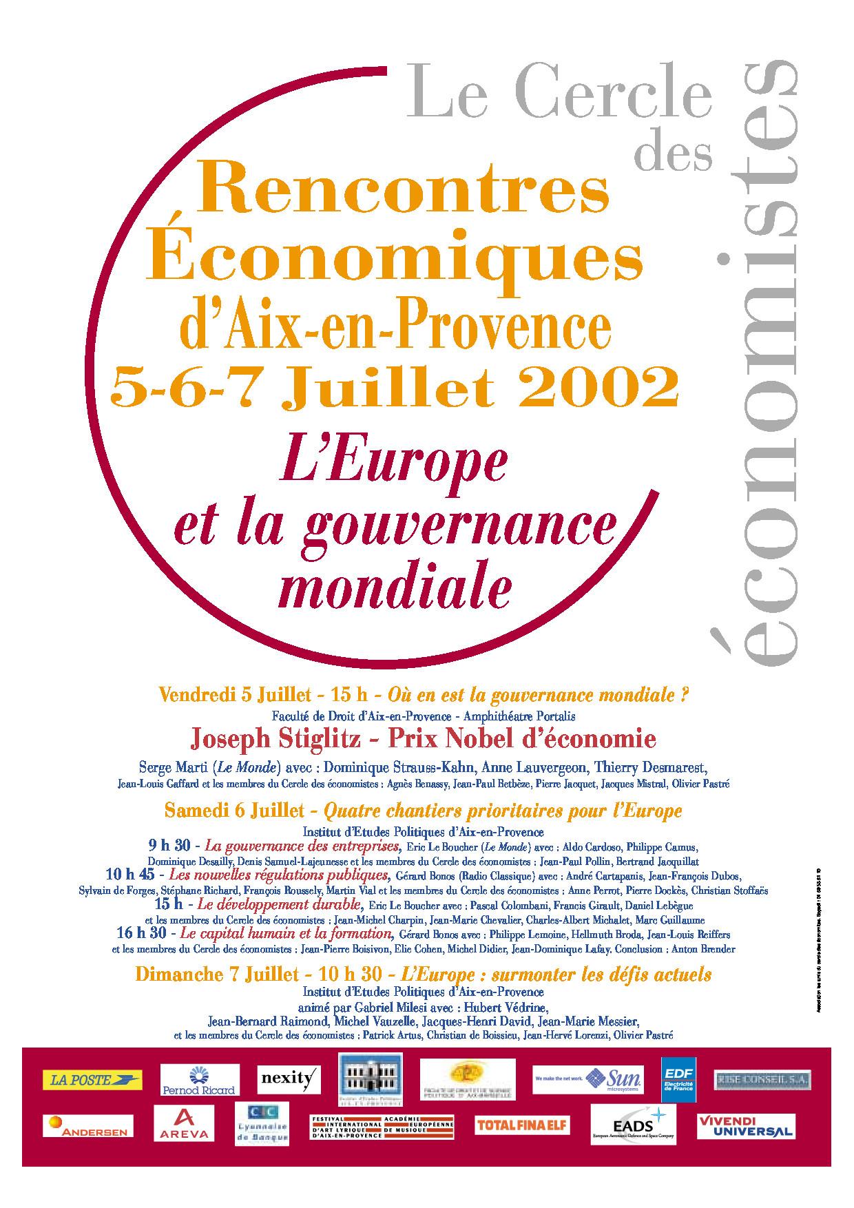 Rencontres d aix cercle des economistes