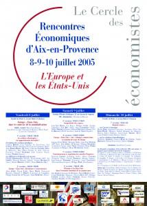 Affiche Rencontres économiques d'Aix 2005