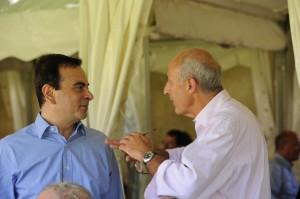 Carlos Ghosn et Jean-Hervé Lorenzi