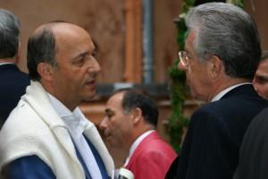 Laurent Fabius et Mario Monti