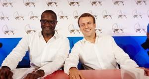 Tidjane Thiam au côté d'Emmanuel Macron