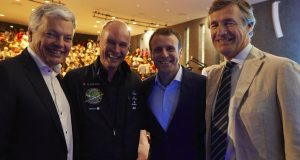 Didier Reynders, Bertrand Piccard, Emmanuel Macron et Nicolas Beytout