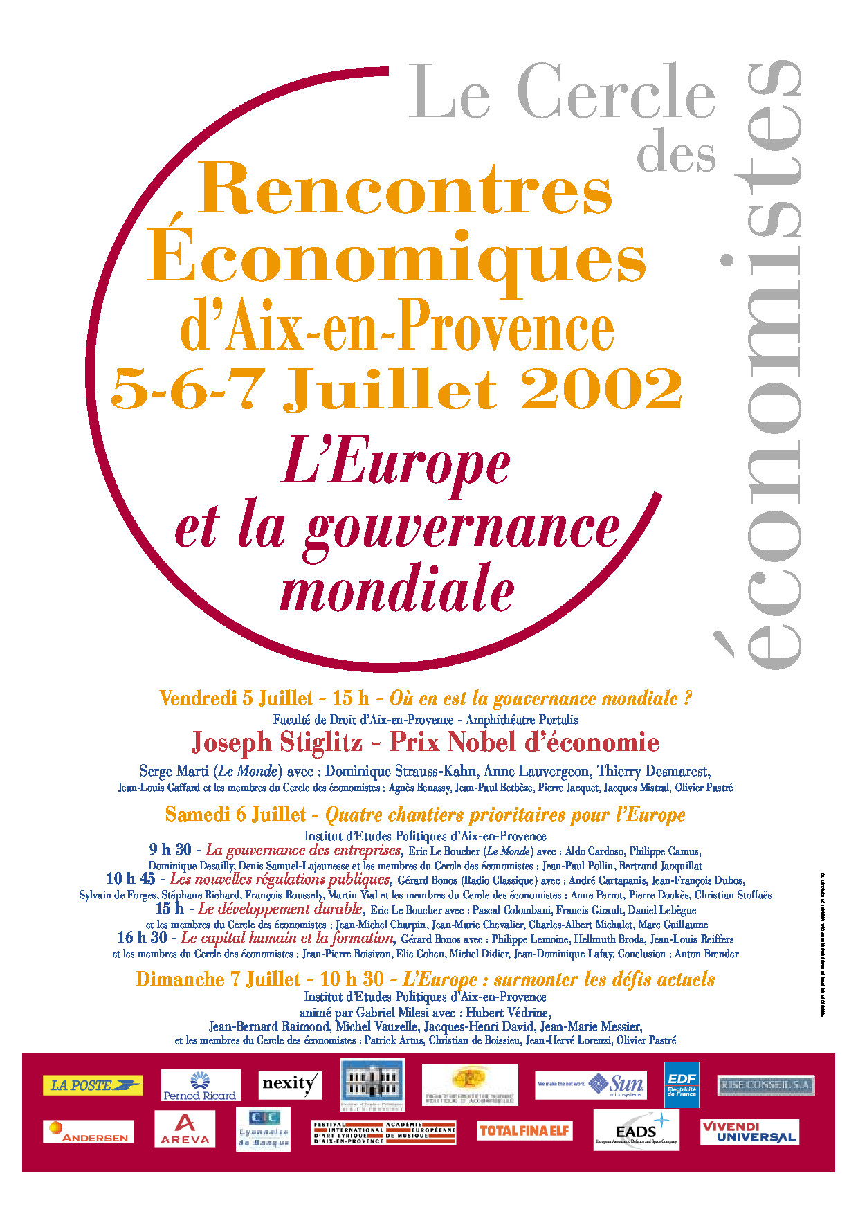 Rencontres economiques aix en provence